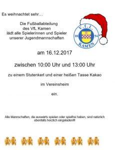 Fußball - Alljährliches Stutenkerl-Kakao-Treffen @ Vereinsheim VfL 1854 Kamen Corp. | Kamen | Nordrhein-Westfalen | Deutschland