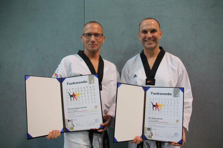 Taekwondo - Unseren höchsten DAN-Trägern: Herzlichen Glückwunsch