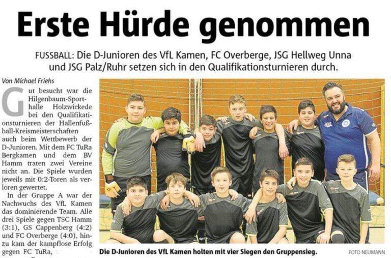 Fußball - D-Jugend erreicht Endrunde der Hallenkreismeisterschaften