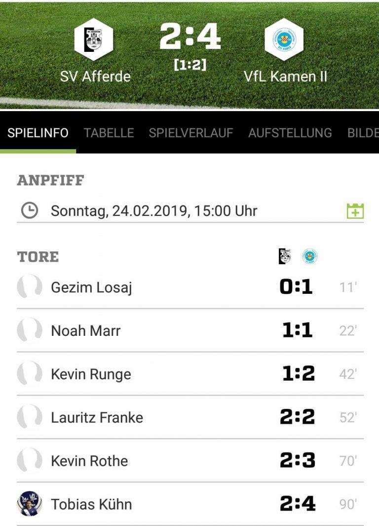Fußball - 2. Sieg im 2. Spiel