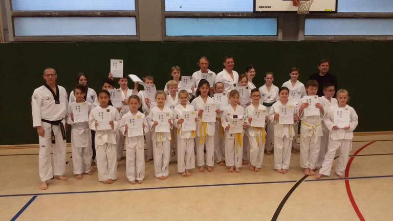 Taekwondo - Kup-Prüfung 02. April 2019